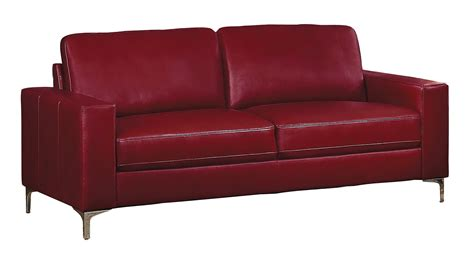 sofa match homelegance iniko sofa set red leather gel match 8203rd