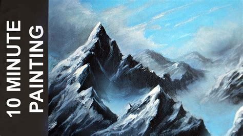 king mountain spray paint painting a mountain landscape with acrylics in 10