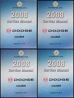 free auto repair manuals 2008 dodge caliber engine control 2008 dodge caliber repair shop manual original 4 volume set