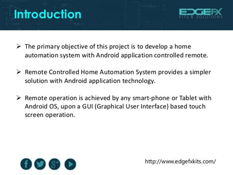 home automation by android application based remote