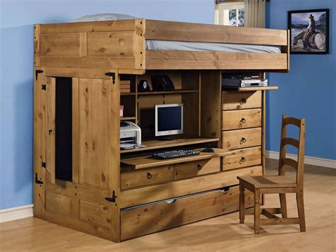 all in one bunk bed with desk plans for loft bed with steps