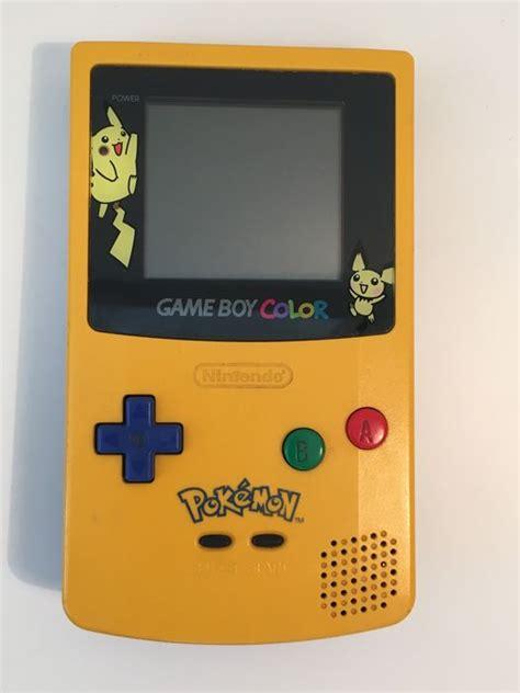gameboy color pikachu edition boy color console pikachu edition gold