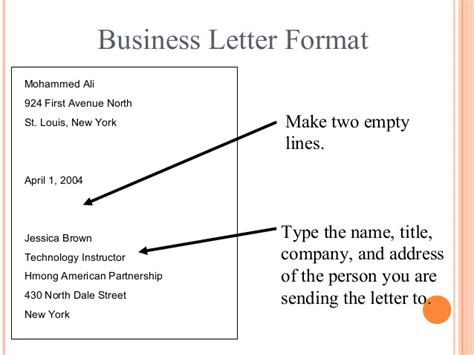 Business Letter Format Name Title Company Letter Writing Communication Skills