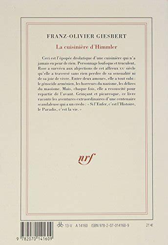 libro la cuisini 232 re d himmler di franz olivier giesbert