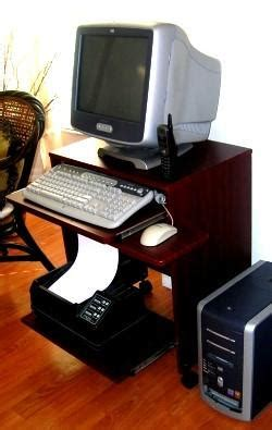 S2326 23 Quot W Compact Computer Desk With Keyboard Shelf Small Laptop And Printer Desk