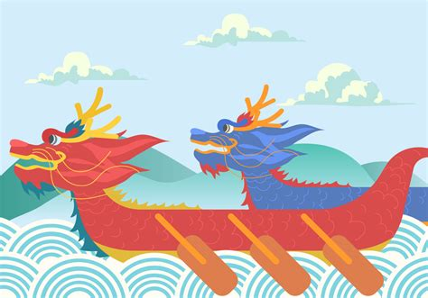 dragon boat festival crafts dragon boat festival background vector download free