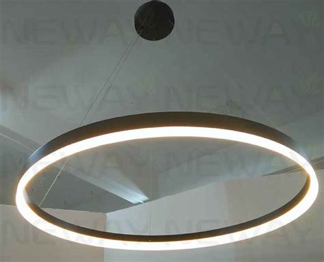 Led Circle Light by Modern Arcylic Circle Led Ring Pendant Suspension