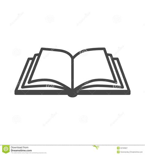 Ouvrez L'icône De Vecteur De Livre Illustration de Vecteur
