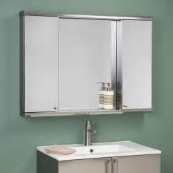 Bathroom Medicine Cabinet With Mirror Metropolitan Dual Stainless Steel Medicine Cabinets Bathroom