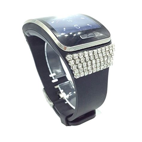 Samsung Gear S Smartwatch Stylish bling wrist straps wrist bands for samsung gear s smartwatch smart black buy