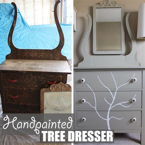diy furniture refinishing projects diy furniture refinishing project handpainted tree
