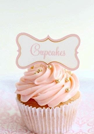 Mini Sweet I Gold rosette cupcakes pink and gold and the sweet