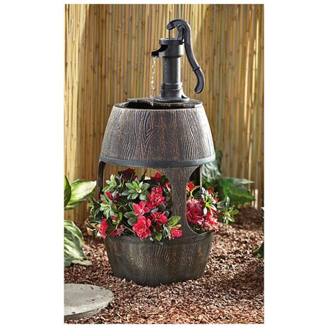Barrel With Planter by Castlecreek 174 Barrel With Planter 581599