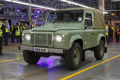 land rover defender car last land rover defender rolls the production line by