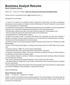 business analyst resumes sles business analyst resume template 15 free sles