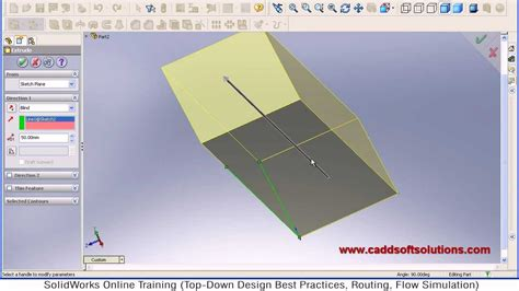 solidworks tutorial extrude solidworks extrude path tutorial youtube
