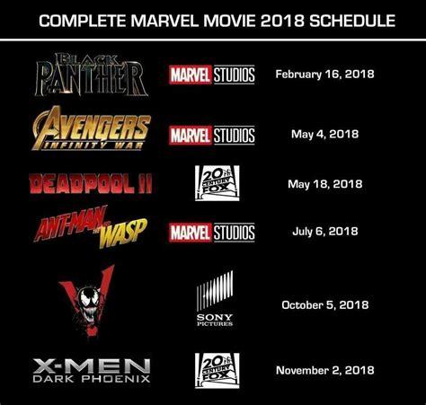film marvel 2018 complete marvel movie schedule for 2018 marvelstudios