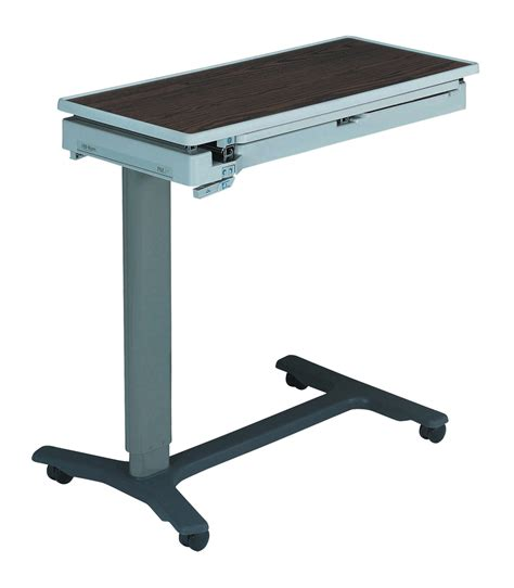 hospital bed tray table with drawer hi res