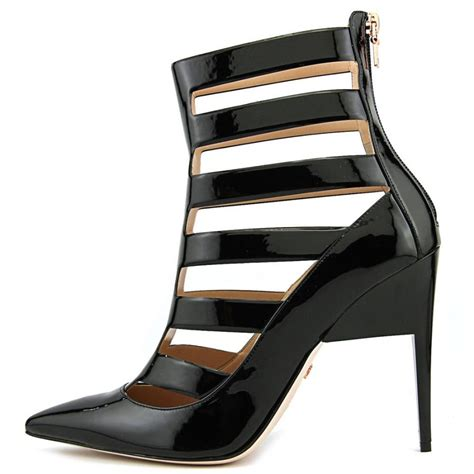 ruthie davis patent leather black ankle boot boots