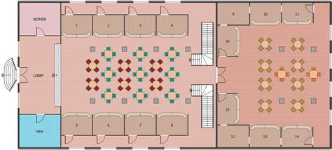 Cafe and Restaurant Floor Plan Solution   ConceptDraw.com