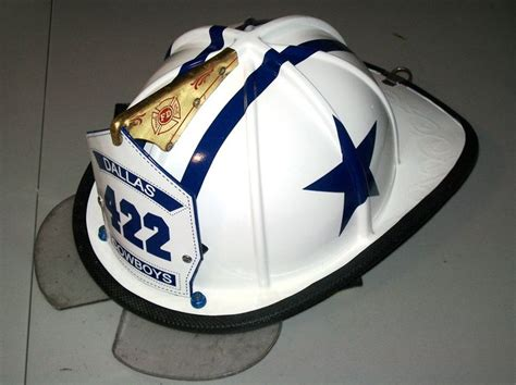 dallas cowboys firefighter helmet made to order nfl
