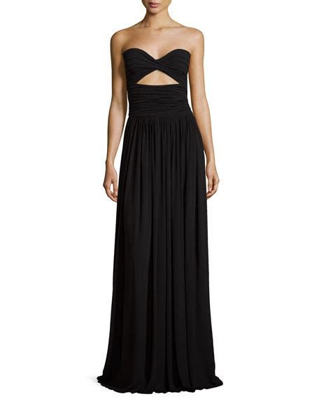 Who Wore It Better Michael Kors Black Strapless Jumpsuit by Michael Kors Strapless Ruched Gown Black