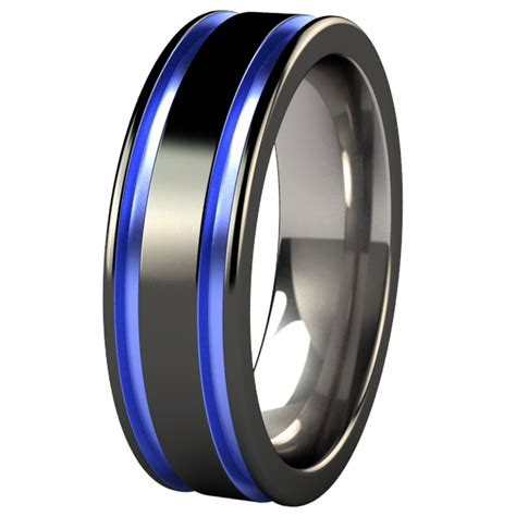 colored wedding bands abyss black colored s wedding bands titanium