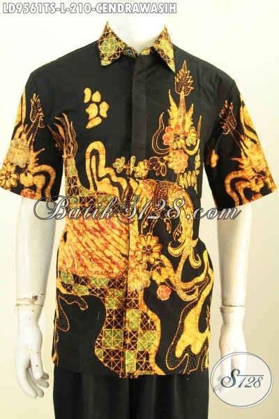 Kain Batik Halus Motif Cendrawasih Orange Bahan Batik Promo batik hem keren lengan pendek pakaian batik modis halus