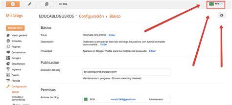 tutorial editar blogger tutorial de blogger educablogueros editar perfil de
