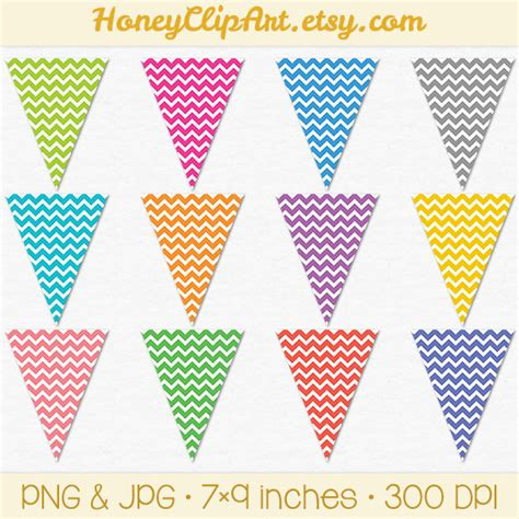 printable bunting flags pennant printable clipart