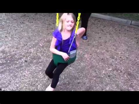 swing her little girl stuck in a baby swing youtube