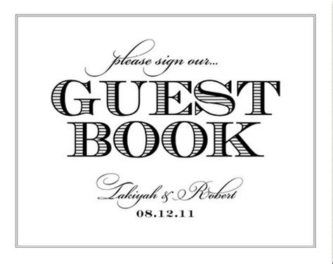 guest sign in book template guest book sign in template book covers