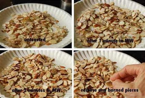 toasting nuts in the microwave