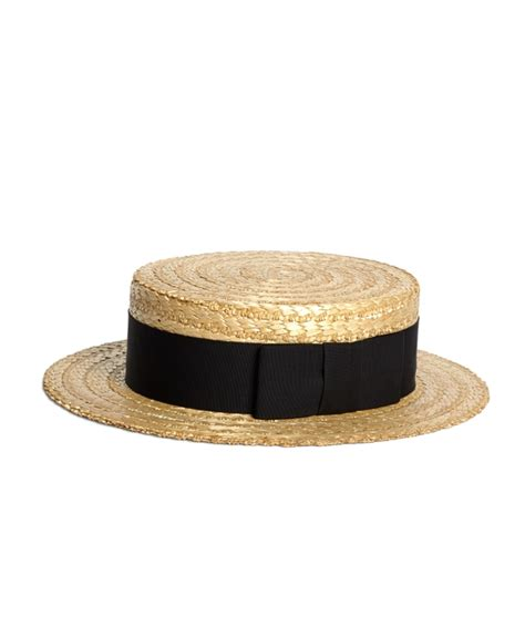 men s lock and co straw boater hat with black ribbon - Freeman Boats Hat