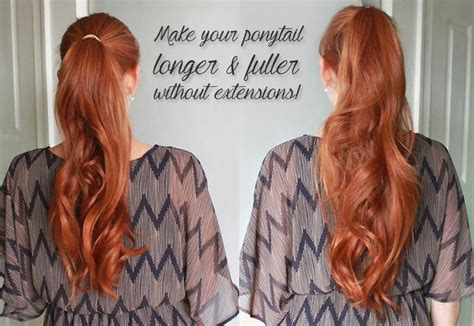 haircuts to make look longer make your ponytail look longer and fuller without