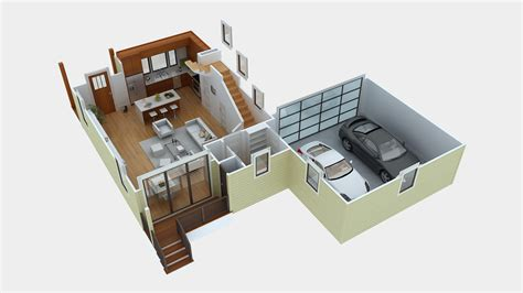 floor plan in 3d green button homes part 3