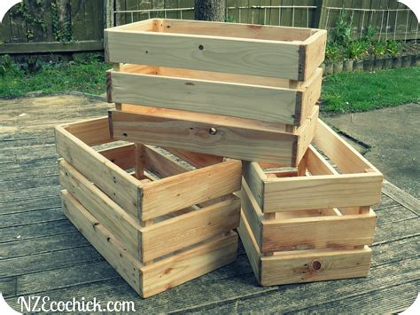 How To Make A Out Of Wooden Pallets by Pallet Crates Nz Ecochick