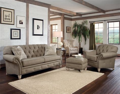 Livingroom Sofas by Rustic Modern Living Room With Light Brown Tufted Sofa