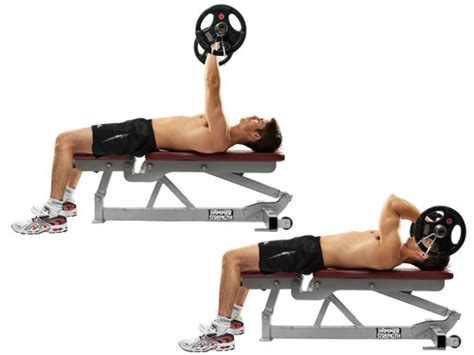 bench bar exercises ez bar lying triceps extension exercise bodybuilding wizard