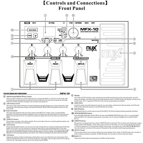 Multi Effect Gitar nux mfx 10 multi effects pedal gitar proses 246 r