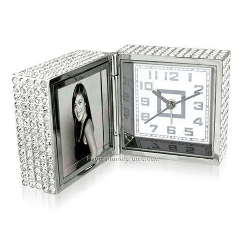 sparkling foldable desk alarm clock with photo frame china wholesale acs95412