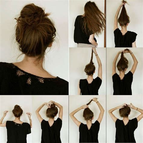 hairstyles buns step by step messy bun hairstyles step by step 9 nationtrendz com