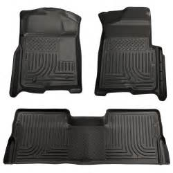 2014 F 150 Husky Floor Mats 2009 2014 Ford F150 Supercrew Cab Floor Mats Black Husky