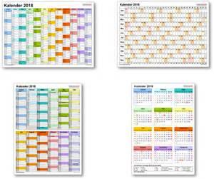 Kalender 2018 Pdf Kostenlos Kalender 2018 Mit Excel Pdf Word Vorlagen Feiertagen