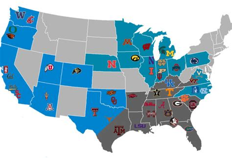 big ten map hypothetical about dividing the usa texags