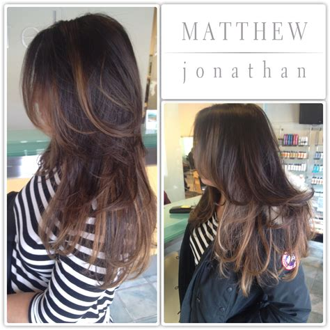where to place foils for ombre balayage sombre foils the new ombre matthew jonathan