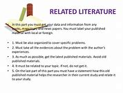 Image result for importance of related literature and studies in thesis writing