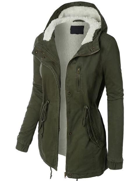 Parka Basic Hoodie womens sherpa lined anorak parka jacket with hoodie basic and jacket with hoodie