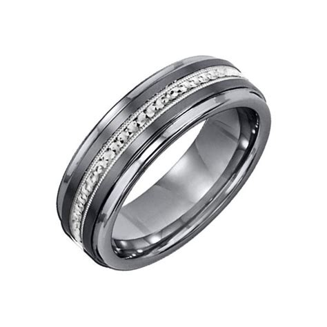 mens tungsten wedding bands with diamonds wedding and