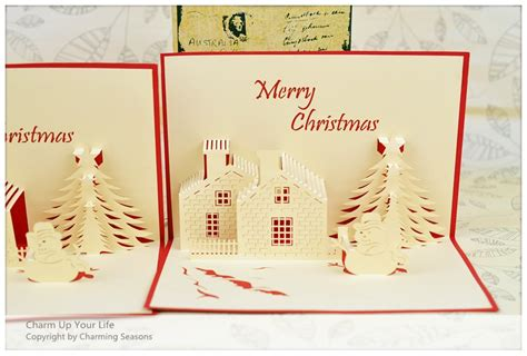 Origami 3d Card - origami handcrafted 3d greeting card merry tree